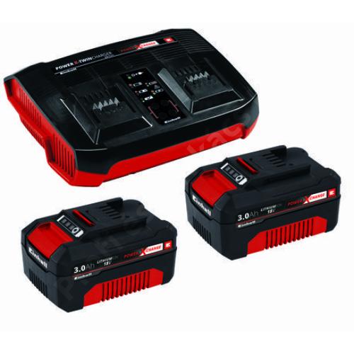 Einhell 2x3,0Ah Twincharger Kit PXC 2 db akku + duplatöltő szett