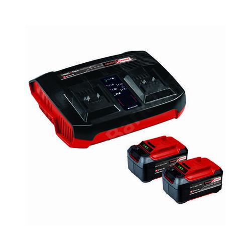 Einhell 2x5,2 Ah & Twincharger Kit 2 db akkus + dupla töltő szett